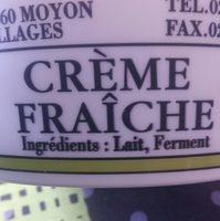 Crème fraîche épaisse - Ingredients