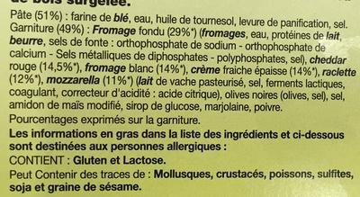 La Crazy 3 Fromages - Ingrédients - fr