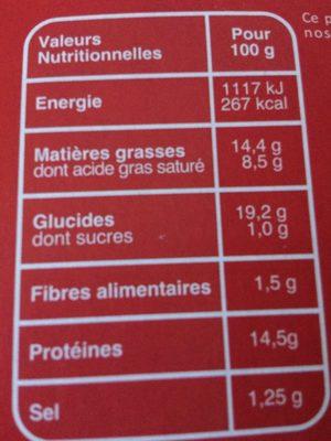 Pizza surgelée 3 fromages - Informations nutritionnelles - fr