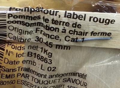 La Pompadour - Ingrédients