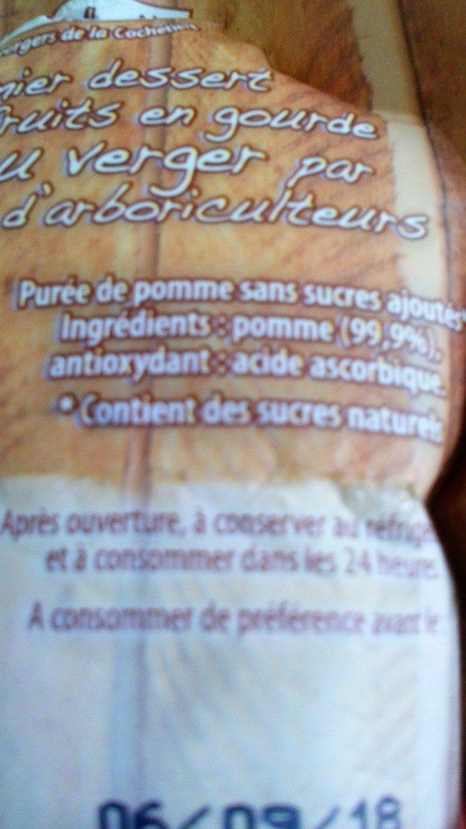 Purée de pommes en gourde - Inhaltsstoffe - fr