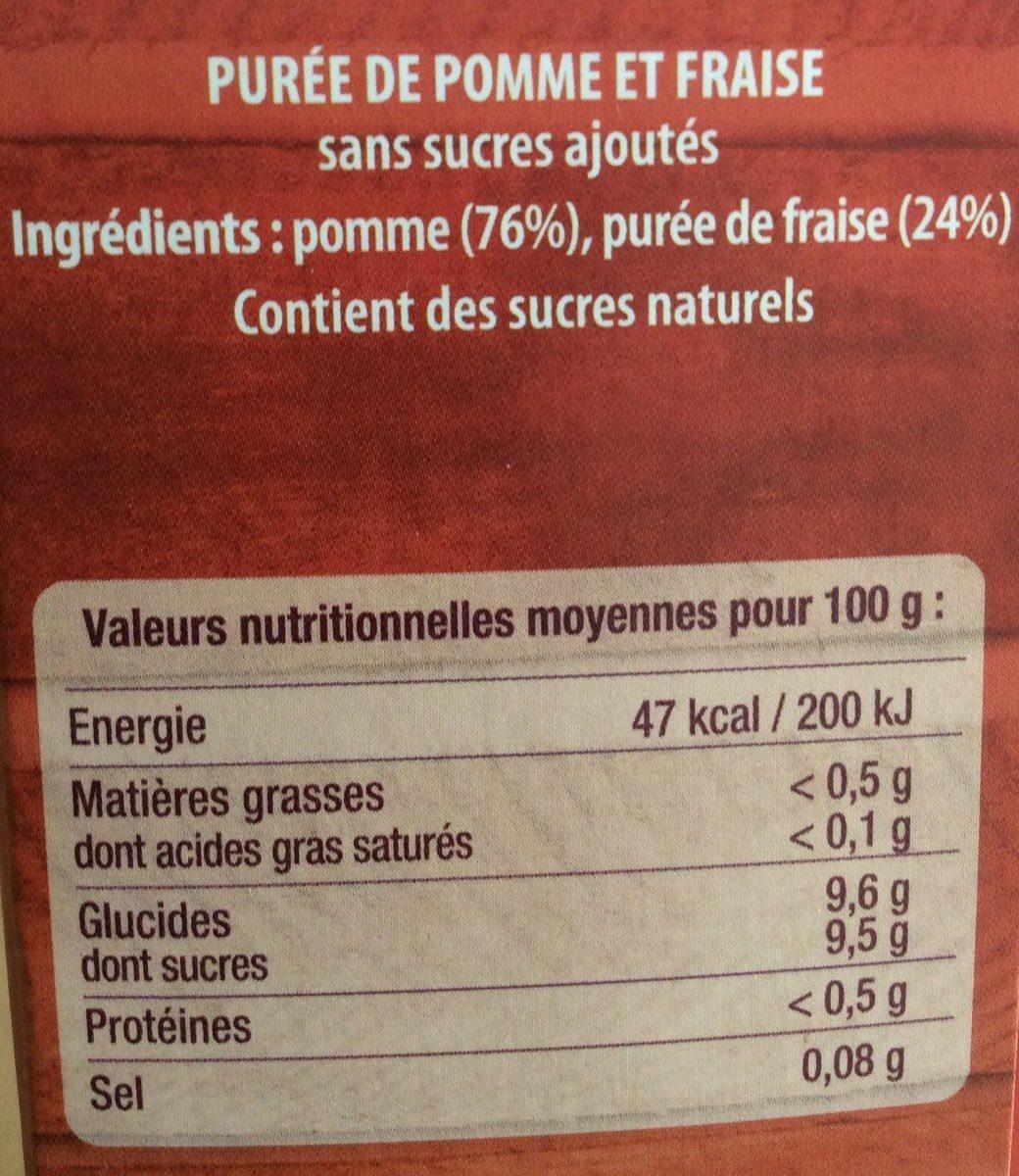 4 pommes fraises - Nutrition facts