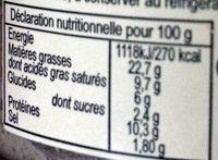 Terrine Charles Antona Corsica à la chataigne 140gr - Nutrition facts - fr