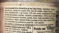 Terrine porc aux myrtes verrine Charles antona 1/4 - Ingredients