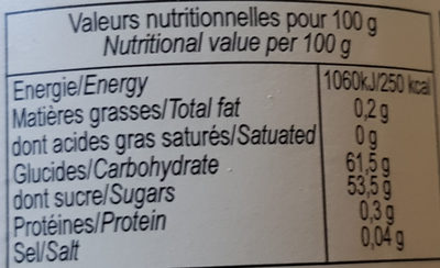 Confiture Peche Abricot - Nutrition facts - fr