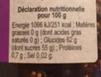 Figue - Nutrition facts - fr