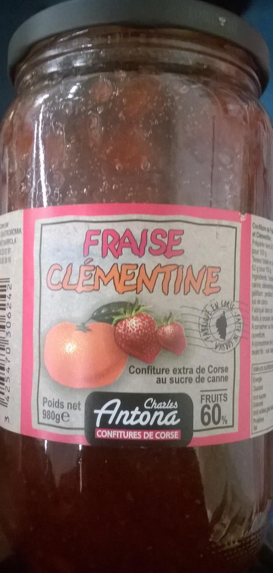Confiture fraise clémentine - Produit - fr