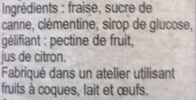 Confiture fraise clémentine - Ingrédients - fr