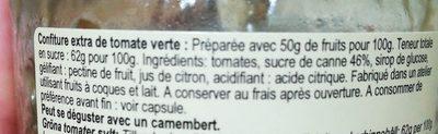 Confiture Corse De Tomate Verte - Ingrédients - fr