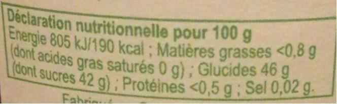 Confiture Mûre Sauvage - Nutrition facts - fr