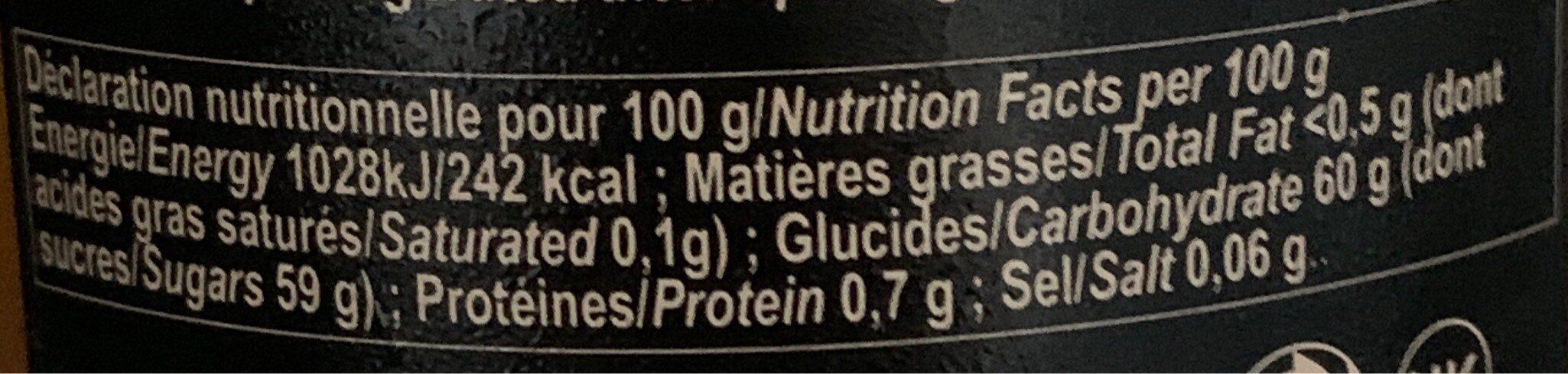 Confiture mandarine corse - Nutrition facts - fr