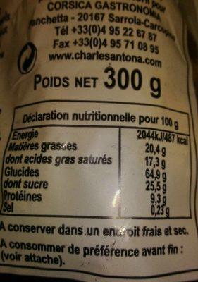 Canistrelli Corse Aux Amandes - Nutrition facts - fr