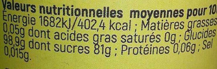 Bonbon au Miel - Informations nutritionnelles - fr