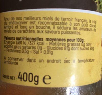 Miel de châtaignier - Ingrédients - fr