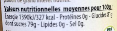 Miel d'acacia et gelee royale - Nutrition facts - fr
