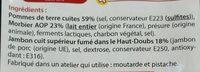 Morbiflette au jambon fumé cuit dans le Haut-Doubs - Ingrédients - fr