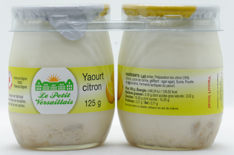 Yaourt entier citron LE PETIT VERSAILLAIS - Product - fr