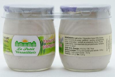Yaourt fraise pamplemousse aux huiles essentielles LE PETIT VERSAILLAIS - Product - fr