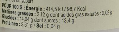 Yaourt fraise pamplemousse aux huiles essentielles LE PETIT VERSAILLAIS - Nutrition facts - fr