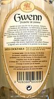 Gween Blanche de Pomme - Ingredients