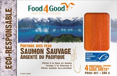 Saumon Sauvage Argenté du Pacifique MSC pêché à la ligne surgelé - Product - fr