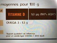 Saumon Sauvage Argenté du Pacifique MSC pêché à la ligne surgelé - Nutrition facts - fr