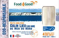 Filets sans peau Colin Lieu (Lieu Noir) de Mer du Nord MSC - Produit - fr
