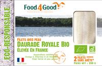 Filets avec peau de Daurade Royale BIO élevé en France - Product - fr