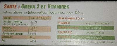 Bâtonnets panés Saumon BIO d'Irlande - Informations nutritionnelles