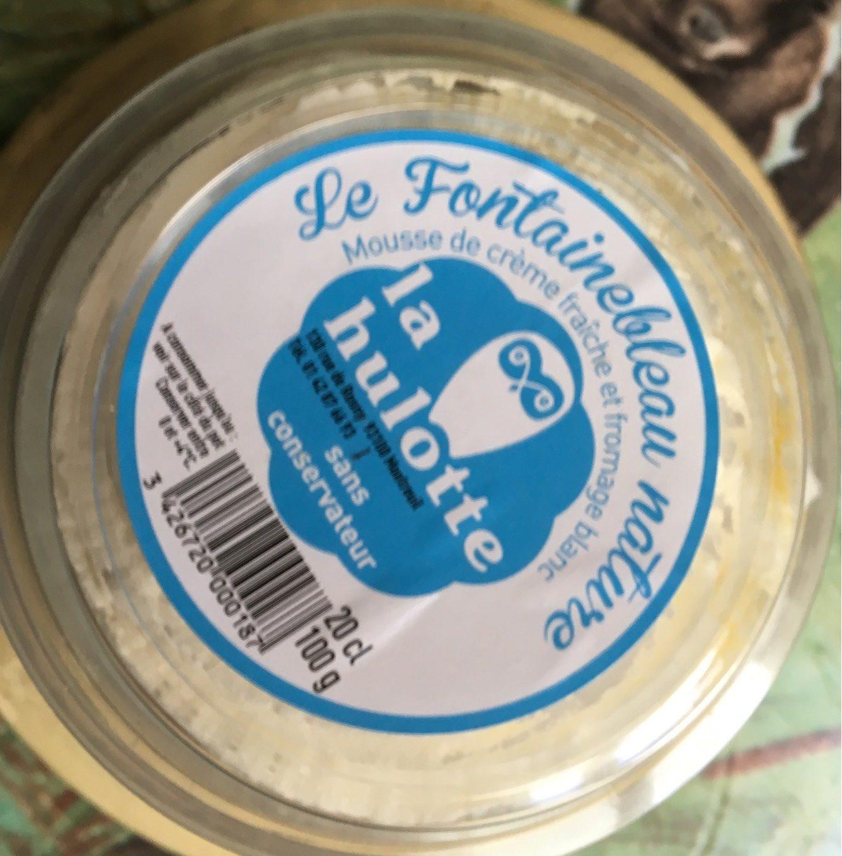 Dessert à base de fromage frais au lait pasteurisé et crème fouettée Fontainebleau nature LA HULOTTE coupelle 15cl - Produit - fr