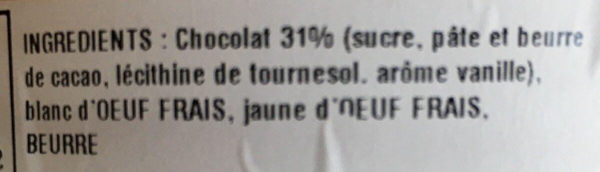 Mousse au chocolat artisanale - Ingrediënten - fr