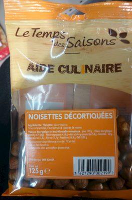Noisettes décortiquées - Produit