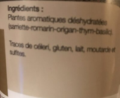 Herbes de Provence - Ingrédients - fr