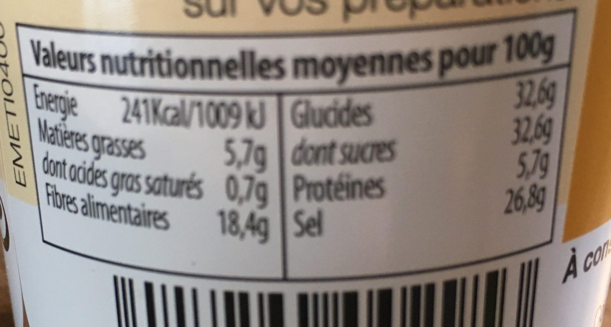 Mélange tex-mex - Informations nutritionnelles - fr
