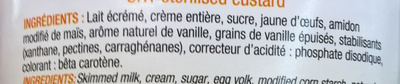 Crème Anglaise vanille Bourbon-grains de vanille - Ingrediënten