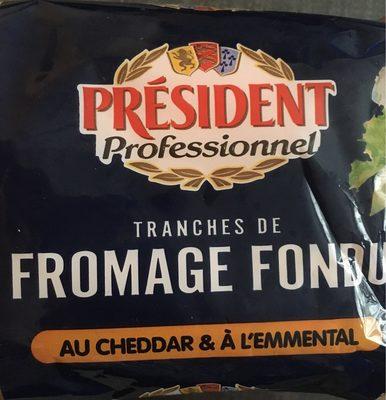 Tranches de Fromage Fondu au Cheddar et à l'Emmental - Product