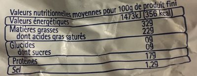 Pointe de brie - Informations nutritionnelles