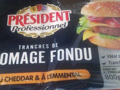 Tranches de fromage fondu - Produit
