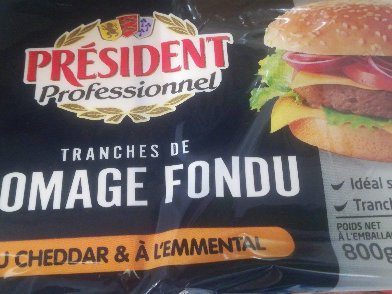 Tranches de fromage fondu - Produit - fr