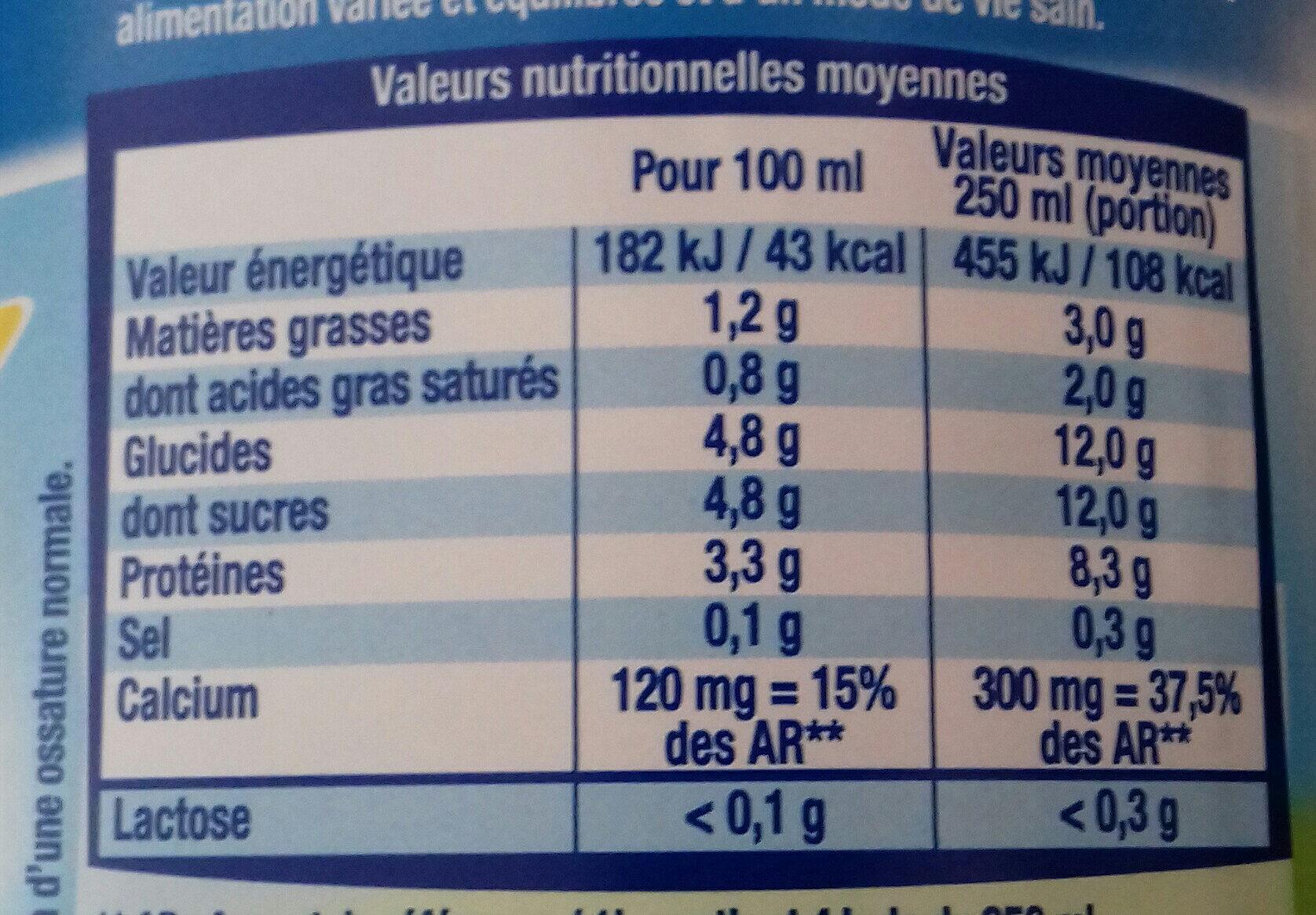 Matin léger BiO - Informations nutritionnelles