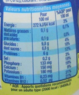Sportéus saveur Vanille - Nutrition facts - fr
