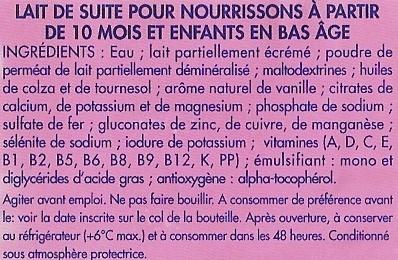 Eveil, Mon Lait de Croissance - Ingrediënten