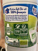 Lait Bio Demi-Écrémé - Recycling instructions and/or packaging information - fr