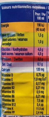 Nr 1 Vitality - Voedingswaarden - fr