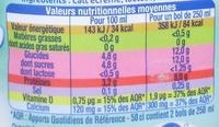 Matin léger - Lait sans lactose - Valori nutrizionali - fr