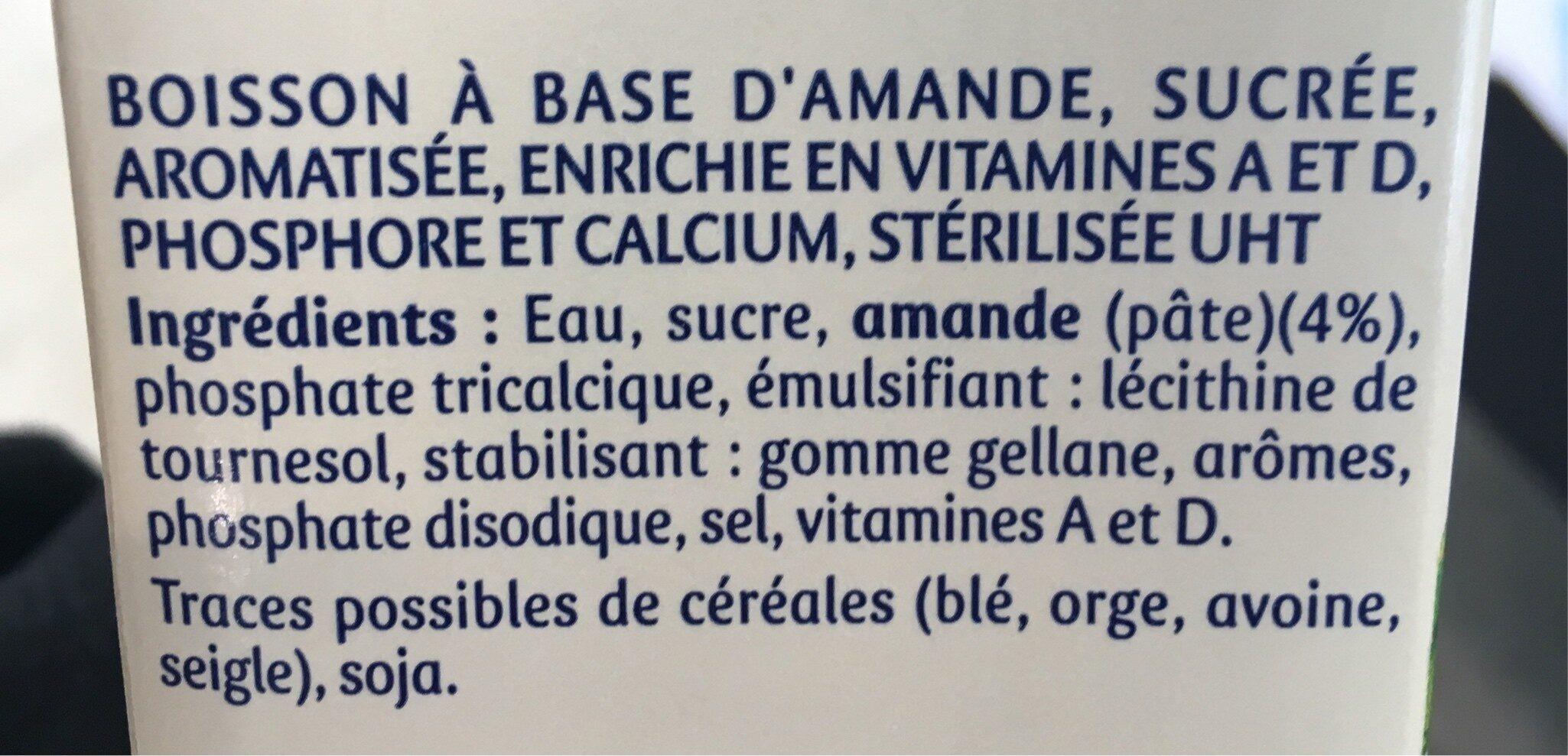 Santal amande saveur cannelle - Ingrédients