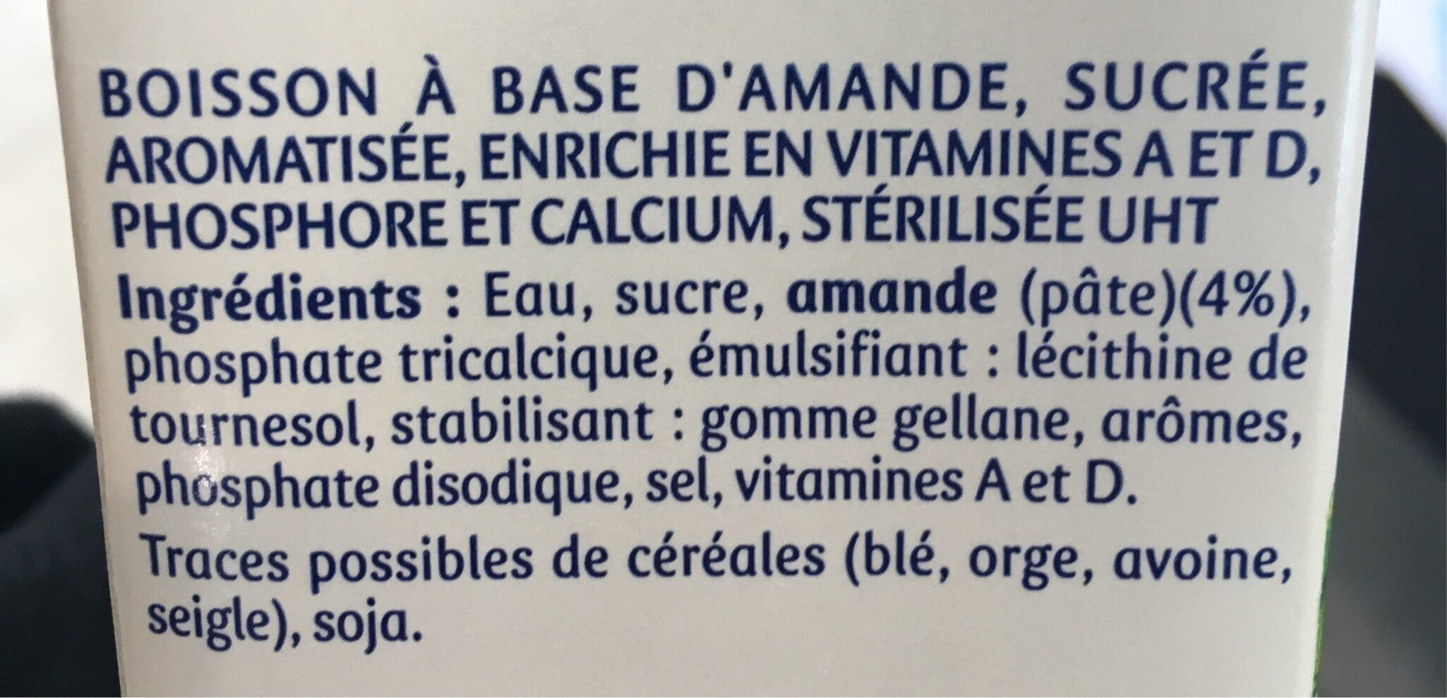 Santal amande saveur cannelle - Ingrediënten - fr
