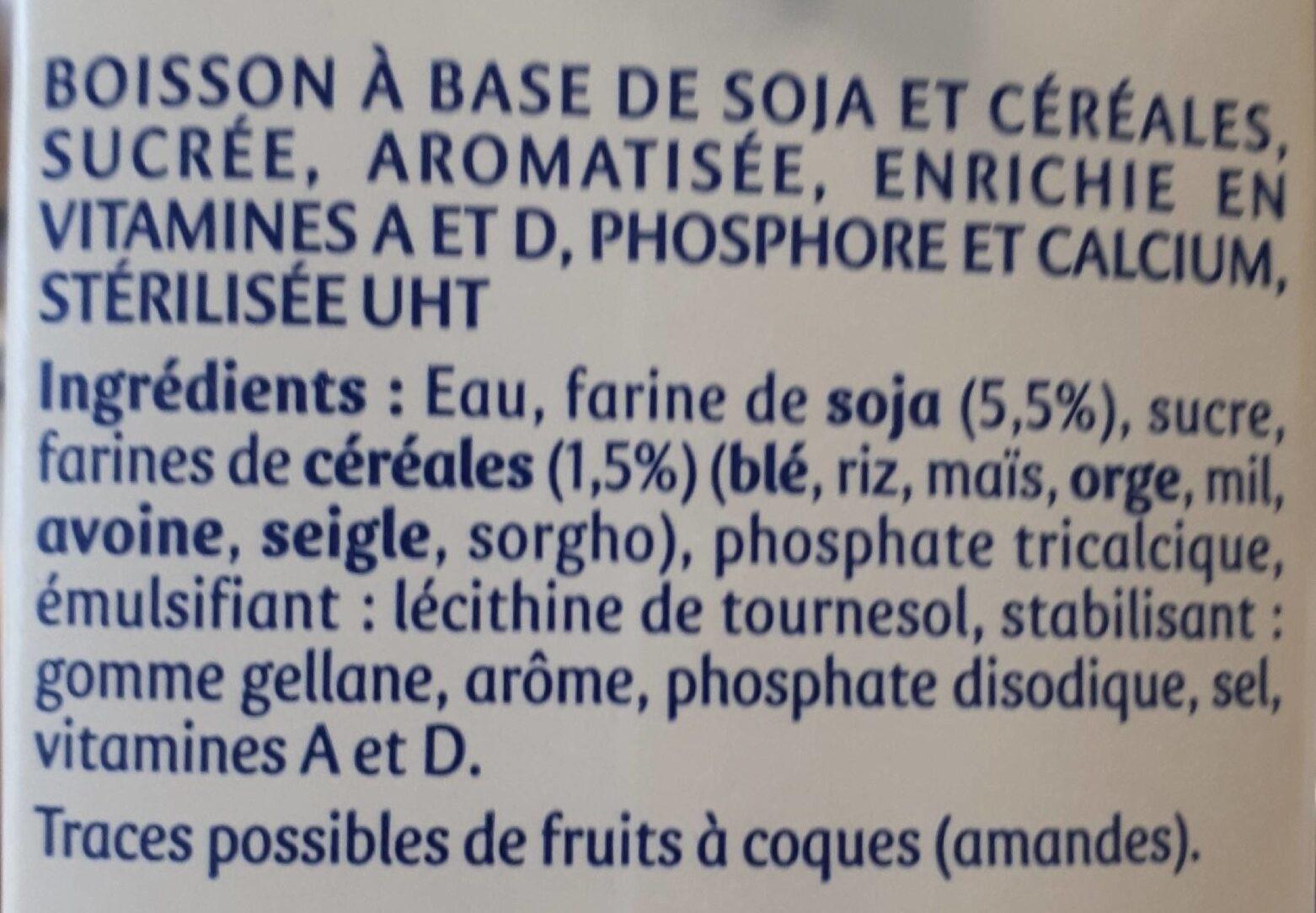 Soja et Céréales Caramélisées - Ingrédients - fr
