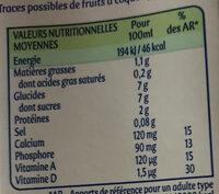 Soja et Céréales Caramélisées - Informations nutritionnelles - fr