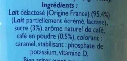 Matin léger café au lait - Ingrediënten